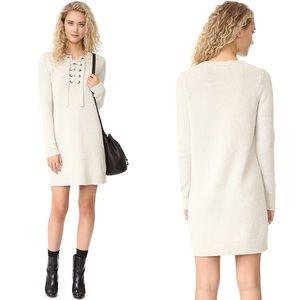 Madewell Merino Lace-Up Sweater Dress